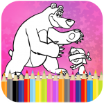 Coloring Book For Kids : Little Girl and Bear 1.9 MOD APK