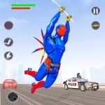 Flying Robot Rope Hero Vegas Crime City Gangster  3.8 MOD APK