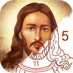 Bible Coloring Paint by Number, Free Bible Games  2.22.0 MOD APK