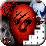 Coloring Scary Masks Pixel Art Game4  MOD APK