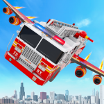 Flying Firefighter Truck Transform Robot Games 28  MOD APK