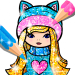 Girls Coloring Book for Kids Glitter 1.1.6.1 MOD APK