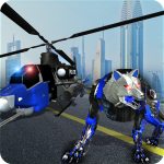 Air Force Transform Robot Cop Wolf Helicopter Game 1.3.3 MOD APK