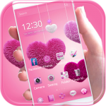 Fluffy love Theme Pink heart 1.2.1 MOD APK