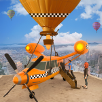 Flying Taxi Simulator: Air Balloon Taxi Driving 3D 1.0.4 MOD APK