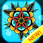 Tattoo color by number : Adult coloring book art 1.5 MOD APK