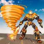 Fire Tornado Robot Transforming Game 1.0.7 MOD APK