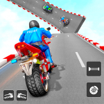 Police Bike Stunt Games: Mega Ramp Stunts Game  1.3 MOD APK