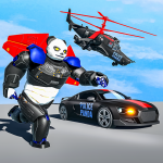 Flying Police Panda Robot Game: Robot Car Game 1.0.5 MOD APK