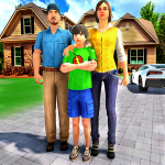 Happy Family Life Dad Mom – Virtual Housewife Care 1.1 MOD APK