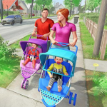 Virtual Mother New Baby Twins Family Simulator 2.1.8 MOD APK