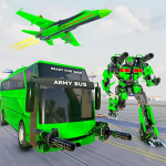 Army Bus Robot Transform Wars – Air jet robot game  4.0 MOD APK