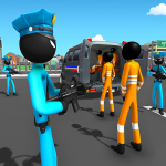 US Police Stickman Criminal Plane Transporter Game 4.7 MOD APK