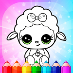 Flower Magic Color-kids coloring book with animals  3.9 MOD APK