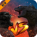 Godzilla & Kong 2021: Angry Monster Fighting Games  4 MOD APK