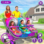New Mother Baby Triplets Family Simulator  MOD APK