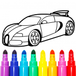 Learn Coloring & Drawing Car Games for Kids  MOD APK